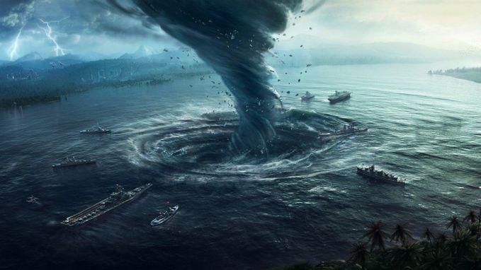 Pusaran Angin Ada sebagian orang meyakini bahwa di Segitiga Bermuda terdapat pusaran angin yang membentuk tornado yang juga mampu menghisap apapun.