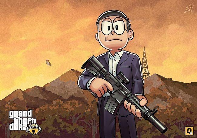Transformasi Super Gokil Tokoh Kartun Doraemon Menjadi Karakter Sosok Nobita