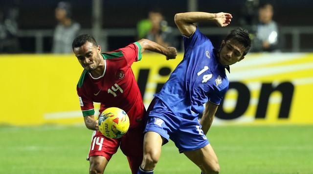 Rizky Ripora saat detik-detik mencentak gol yang pertama untuk Indonesia melawan thailand.