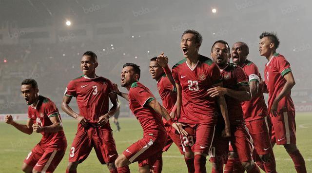 Kebahagiaan pemain timnas Indonesia saat berhasil mengalahkan thailand.