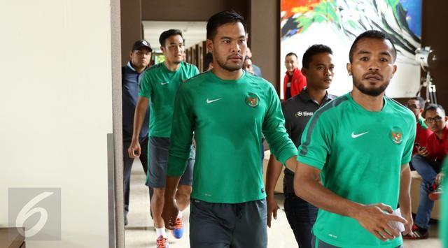 Timnas Indonesia saat akan terbang kebangkok hari ini pukul 12.55.
