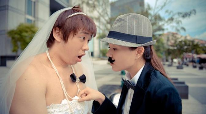 Hayo tebak mana yang pengantin cewek dan mana pengantin cowok nya?