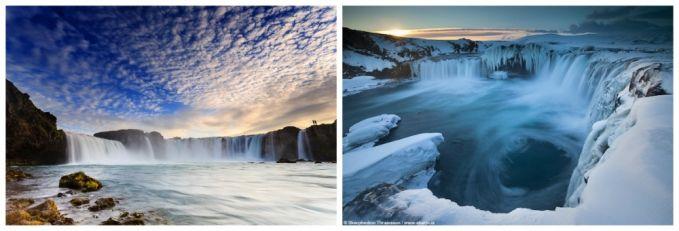Akhir tahun emang pas banget untuk menikmati dinginnya salju. Di Islandia bukan cuma salju yang bisa kamu nikmati Pulsker, tetapi juga melihat indahnya cahaya utara di atas Air Terjun Para Dewa yang hanya bisa kamu rasakan di Godafoss, Islandia.