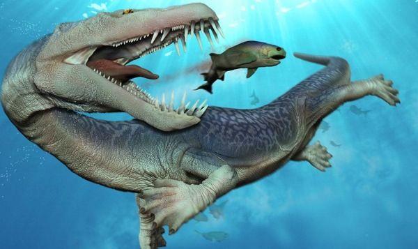 Monster yang satu ini memang tergolong sebagai monster kecil. Namanya adalah Nothosaurus, panjangnya hanya sekitar 4 meter saja, namun dia adalah pemburu yang sangat agresif pulsker. Monster ini dipersenjatai gigi-gigi tajam dan panjang. Nothosaurus adalah monster yang ahli dalam menyergap mangsanya secara tiba-tiba. Bukti fosil yang ditemukan menunjukkan bahwa mereka hidup selama periode Triassic lebih dari 200 juta tahun silam.