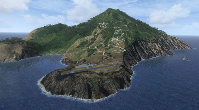 Bandara Juancho E. Yrausquin, Kepulauan Saba. Bandara yang mungkin terpendek sedunia liat aja tuh landasannya.