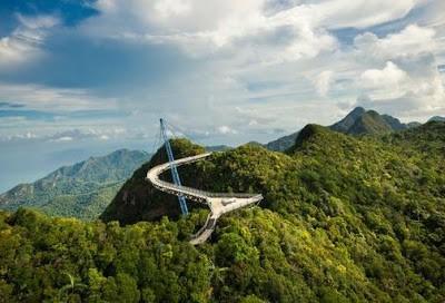 Malaysia Jembatan melengkung.