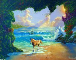 Coba Tebak, Ada Berapa Gambar Kuda dalam Lukisan Ini?