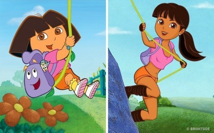 Dora Seperti judul dalam film kartunnya Dora The Explorer suka berpetualang. Tuh masih tetep suka explorer-explorer keliatannya.