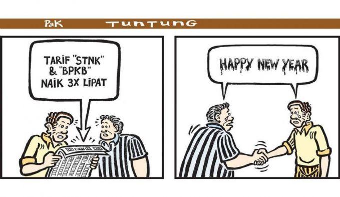 Ucapan selamat tahun baru yang miris banget akibat berbagai kebutuhan naik harga.