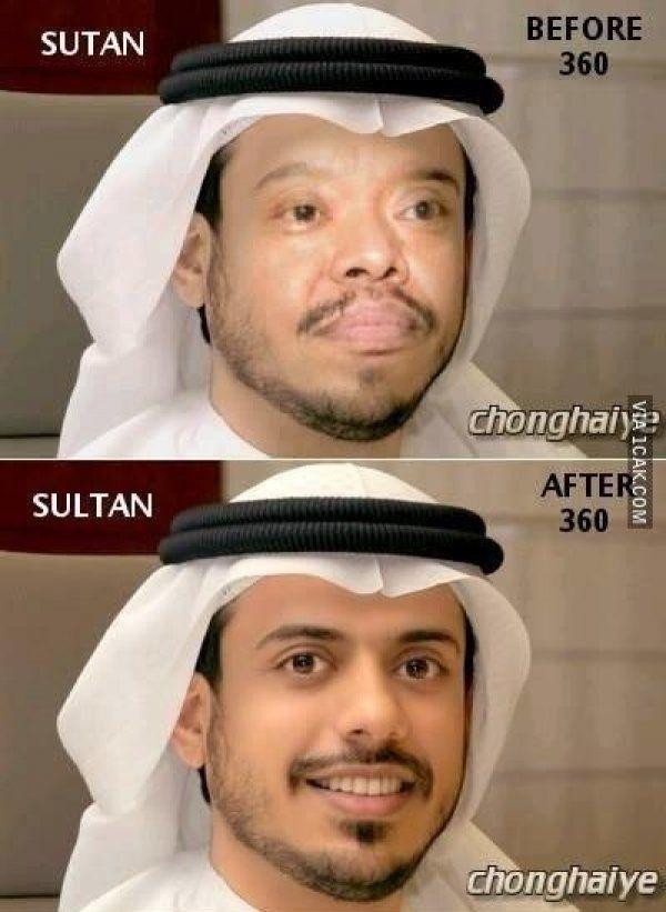 Yee,,kalau ini mah perbedaan antara Sutan dan Sultan, bukan kerena pakai 360 kali..