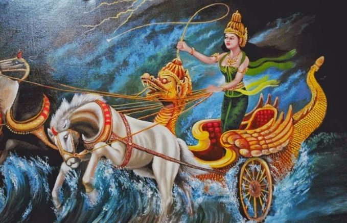Nyi Roro Kidul Walaupun dikatakan tinggal dilautan dan penguasa pantai, tidak membuat Nyi Roro Kidul berpakaian seksi atau mengenakan bikini. Penampakannya selalu digambarkan mengenakan kebaya sopan yang lengkap dan cantik dipandang. Ini menunjukkan jika Nyi Roro Kidul adalah pribadi yang mencintai kebudayaan daerah dan mengerti sopan santun. Selain itu, walaupun sekarang sudah jaman modern, Nyi Roro Kidul tetap memilih kereta kuda sebagai alat transportasinya. Berbeda dengan anak jaman sekarang yang gengsi menggunakan kendaraan umum..hehe (gambar : kisahasalusul.blogspot.com)