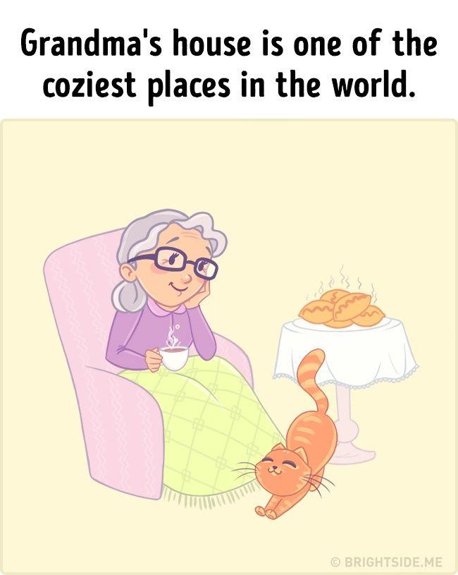 Biasanya nenek itu berada dikampung halaman. Kamu akan berkunjung kerumahnya saat liburan tiba. Tidak dapat dipungkiri Pulsker, jika rumah nenek adalah tempat paling nyaman di dunia.