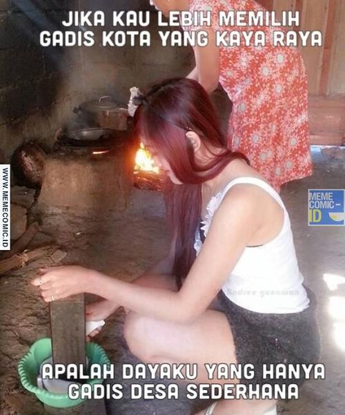 Gimana nih, kamu udah siap nikah sama gadis desa yang setiap hari berhadapan dengan tungku, bukannya kompor gas.