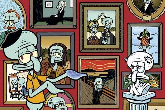 """Squidward sangat mencintai seni pulsker, dia sering kali berlatih alat musik yang dicintainya yakni sebuah klarinet. Ada satu quote dari dirinya tentang seni nih, yakni """"Kita harus menghargai karya seni. Entah milik sendiri atau siapapun""""."""