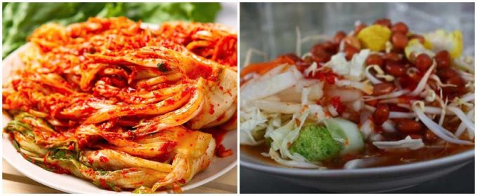 Kimchi dan Asinan Makanan korea yang paling cocok di lidah orang Indonesia nih kimchi, rasanya yang pedas dan asam sama persis kayak asinan Indonesia.