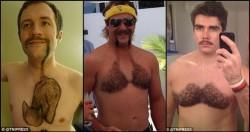 Astagaa..Para Pria Ini Mencukur Bulu Dadanya Dengan Motif Absurd!