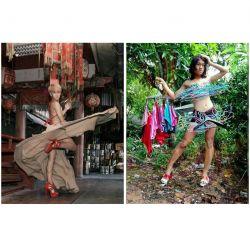Bak Model Wanita Ternama, Pria Asal Thailand Ini Piawai dalam Memperagakan Busana yang Di Kenakan
