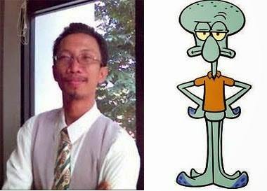 Ini nih pengisi suara dari Squidward, Jumali Prawirorejo. Tak hanya itu saja beliau juga mengisi suara dari Shaggy di Scooby Doo dan Diego di Ice Age.