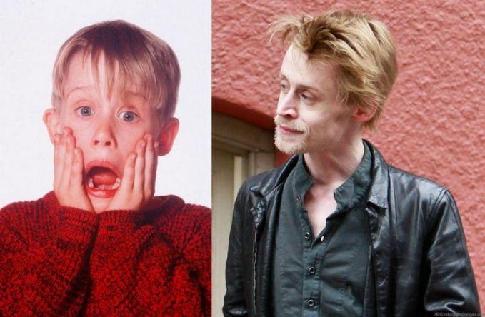 Macaulay Culkin Bocah laki-laki yang berani melawan pencuri. Dulu masih imut dan lucu tapi setelah dewasa jauh berbeda, dia kecanduan akan narkoba dan perokok berat. Sayang sekali ya pulsker.
