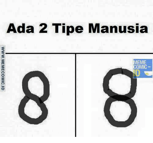 Coba tebak apa perbedaan dari angka delapan ini?. Meskipun maknanya sama, cara bikinnya yang membedakannya pulsker.