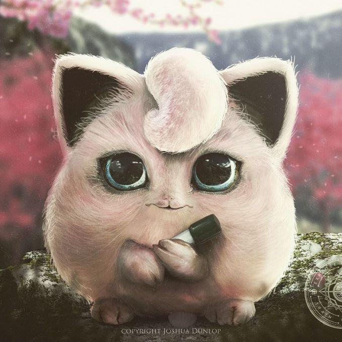Jigglypuff kalau diimajinasikan dalam dunia nyata sangat menggemaskan ya pulsker?. Seperti seekor kucing lucu yang memiliki bulu yang lebat. Ditambah dengan bola matanya yang menggemaskan. Lengkap deh.