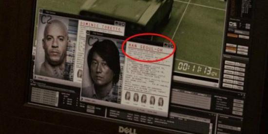 Ternyata nama lengkap Han di salah satu adegan Fast Five ini adalah Han Seul-Oh. Mengingatkan kita pada Han Solo di Star Wars.