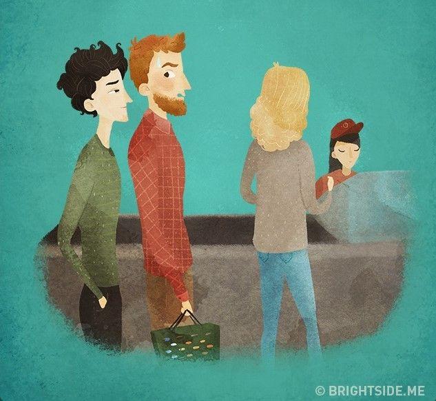 Orang asing yang sering mendempetkan diri pada saat mengantri. Apasih maunya?
