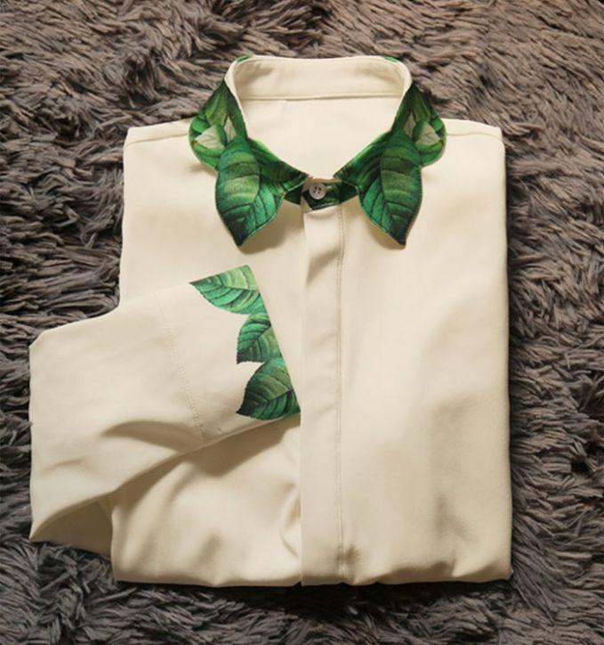 Kerah baju berbentuk daun tiga dimensi ini cocok lho buat pakaian formal. Tetap kece sekaligus elegan pulsker untuk acara-acara resmi.