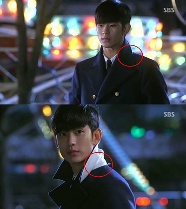 Kerahnya kok bisa kebalik gitu, mungkin kerahnya Do Min Joon ini ketiup angin makanya bisa kaya gitu.