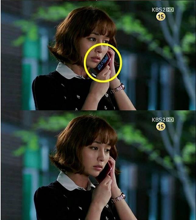 Dan terjadi lagi..dalam drama Big, smartphone Lee Min Jung kebalik megangnya.