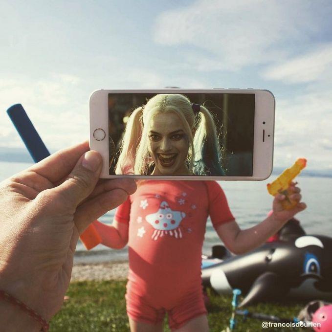 Wah..ada Harley Quinn bersenjata pistol air lagi ngamuk!!