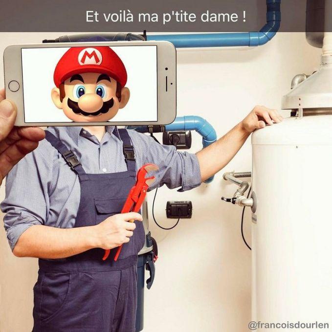 Pengen tahu dengan wujud asli karakter game Super Mario. Ini wujud tukang ledeng terkenal itu Pulsker.