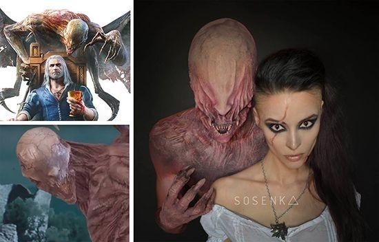 The Witcher 3 - Blood and Wine Cosplay yang ia buat ini meniru karakter dalam film The Witcher 3. Mirip banget ya seperti yang difilm..Keren!