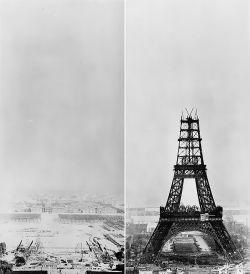 Kumpulan Foto Bersejarah Saat Pembangunan Menara Eiffel di Masa Silam