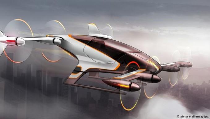 Pabrikan pesawat kawakan, Airbus juga meluncurkan prototype mobil terbang. Mobil tersebut adalah Vahana yang dilengkapi delapan rotor pada dua sisi sayapnya yang tergantung apakah mobil terbang secara vertikal atau horizntal. Rencananya pulsker, kendaraan ini akan befungsi tanpa sopir lhi dengan kabin satu penumpang.