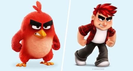 Angry bird adalah sosok burung yang selalu menmapakkan wajah marahnya. Nah, saat diproyeksikan menjadi manusia, sosok ini menjadi anak kecil yang pemarah.