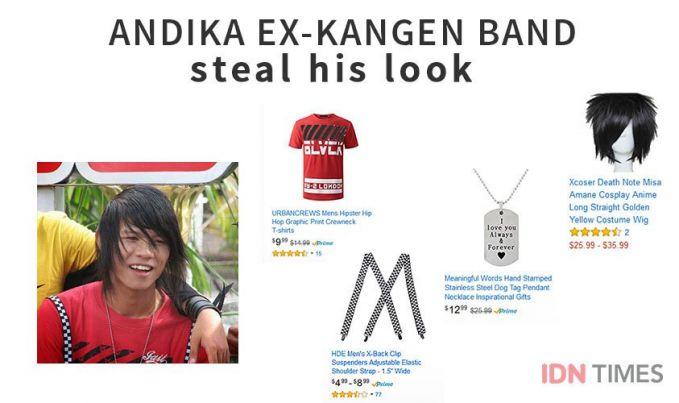 Andika Ex-Kangen Band Nah, ada orang ganteng nih, style yang biasa dipakai sama andika adalah Harajuku ala Jepang. Buat kamu yang suka Harajuku, juga bisa meniru gaya Andika ini Pulsker.