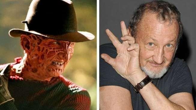 """Sosok Freddy Krueger dalam film """"A Nightmare on Elm Street"""" tahun 1984 memang bikin takut siapa saja yang pertama kali melihatnya dengan tampilan wajah menyeramkan. Perannya dimainkan oleh sosok Robert Englund."""