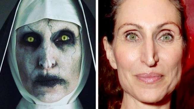 """Ini dia nih sosok hantu yang berhasil mencuri perhatian publik di tahun 2016 lalu. Keberadaannya sempat menghebohkan dunia maya juga pulsker. Siapa lagi ya kalau bukan si Valak dalam film """"The Conjuring 2"""". Ternyata seperti ini wajah Bonnie Aarons sang pemeran Valak pulsker."""
