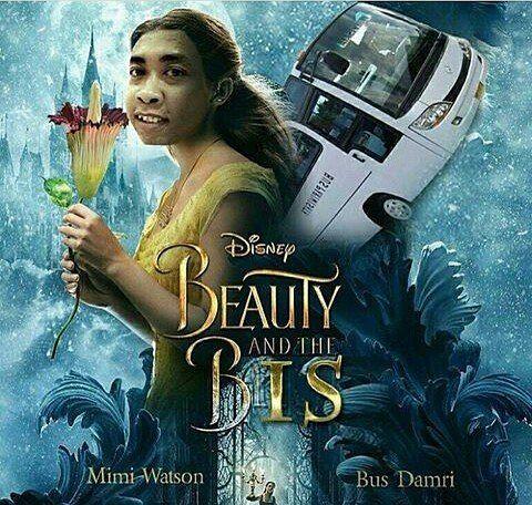 Astagaa..kenapa Belle jadi Mimi Peri yang turun dari kayangan, Beastnya juga bebentuk Bis. Pantes aja judulnya Beauty and the Bis..haha