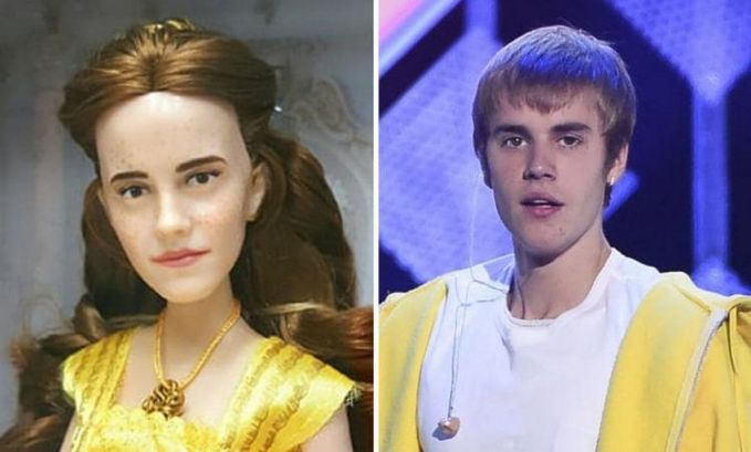 Malah banyak yang bilang kalau wajah boneka Belle lebih mirip sama Justin Biebe..ada-ada aja deh!