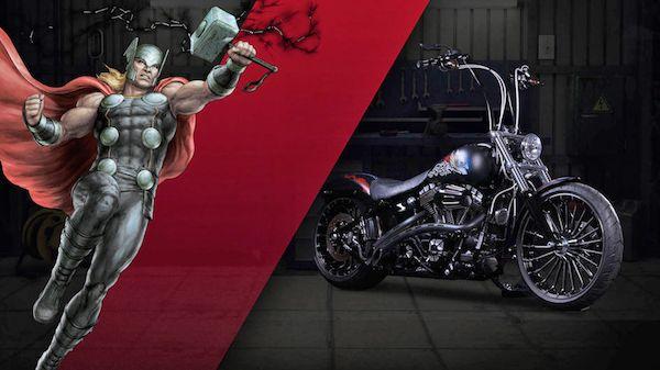Terisnpirasi dari sosok Dewa Petir, Thor motor Harley-Davidson ini diciptakan pulsker. Warnanya yang dsielmuti hitam menyala membuatnya nampak garang saat melibas aspal.