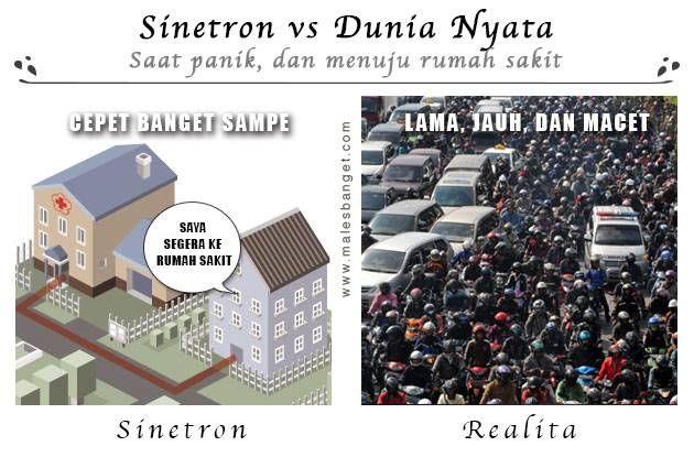 Apalagi kebanyakan syuting sinetronnya di Jakarta yang rawan macet..nggak mungkin banget deh!