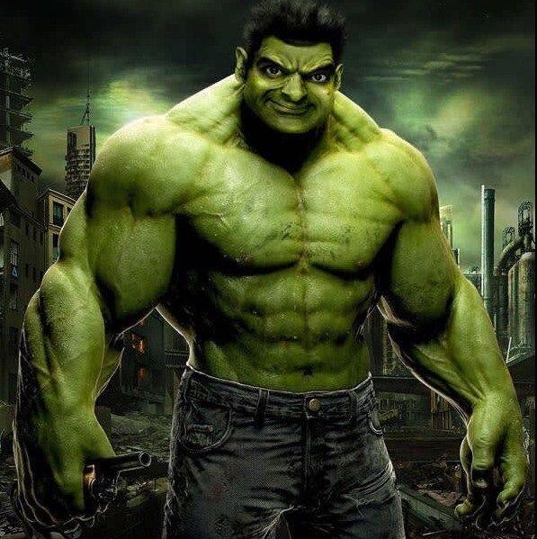 The IncrediBean Hulk nih, badannya sih udah gede, Sayang mukanya kayak gitu. :V