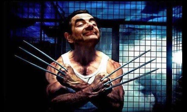 Anjir, gajadi serem dah si Om Wolverine kalo Mr. Bean yang jadi aktor.