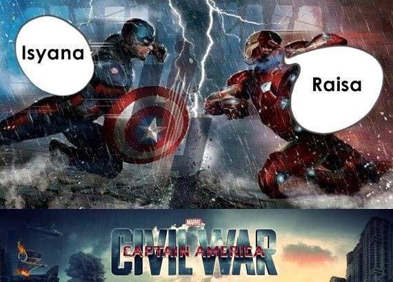 Saat Isyana dan Raisa ketemu, Civil War pun terjadi..haha