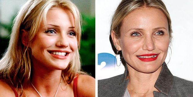 Ini juga salah satu aktris kawakan Hollywood, Cameron Diaz. Usianya kini 44 tahun. Dulu masih seksi-seksinya pas bermain dalam film 'The Mask' tahun 1994.