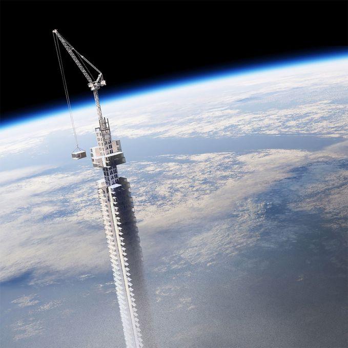 Wah, sampai-sampai alat konstruksi bangunannya dibawa ke angkasa juga lho. Gak kebayang seperti apa kalau gedung pencakar langit ini benar-benar terwujud ya pulsker?. Pasti bakalan jadi satu-satunya gedung paling fenomenal di dunia nih. Kita tunggu saja ya !. (Baca juga ratusan artikel menarik lainnya di http://www.pulsk.com/u/242329)