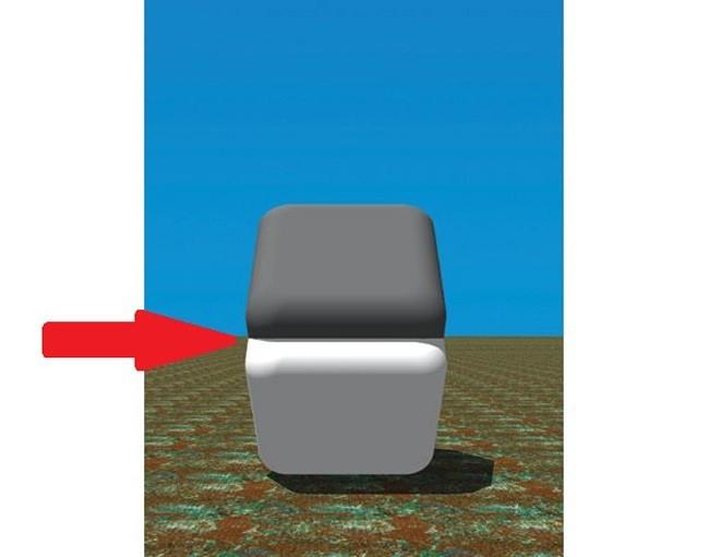 Coba deh letakkan jarimu Pulsker di tengah kotak! Dan lihat apa yang terjadi... Warna kedua kotak tersebut akan menjadi sama...