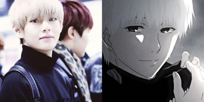 Sudah banyak yang bilang kalau BTS V penampilan dan wajahnya mirip dengan Kanaki Ken (Tokyo Ghoul)